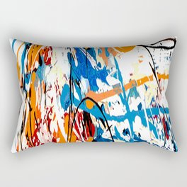 Blue orange #1 Rectangular Pillow
