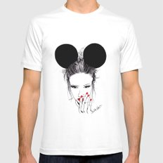 Minnie Mouse MEDIUM White Mens Fitted Tee