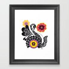 Indhi Swan Framed Art Print