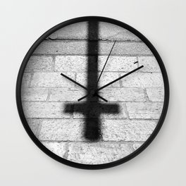Religion is a 'No Loading at Any Time' road sign. Wall Clock