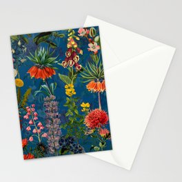 Vintage & Shabby Chic - Blue Midnight Spring Botancial Flower Garden Stationery Cards