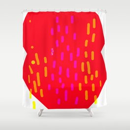 red fans Shower Curtain