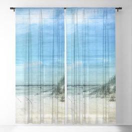 the beach Sheer Curtain