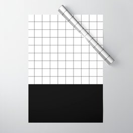 Scandi Grid Sq B Wrapping Paper