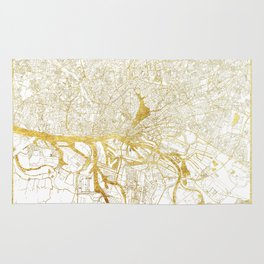 Hamburg Map Gold Rug