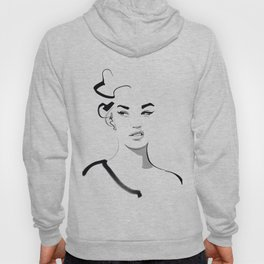 Face disgusted Fashion Illustration Version Hoody