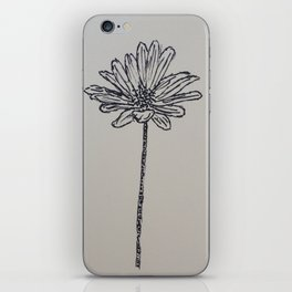 Flower Drawing iPhone Skin