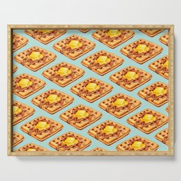 Waffle Pattern Serving Tray