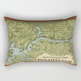 Vintage Map of The Panama Canal (1911) Rectangular Pillow