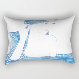 Water Nymph LXIX Rectangular Pillow