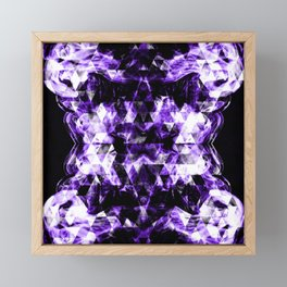 Electrifying ultra violet purple sparkly triangle flames Framed Mini Art Print