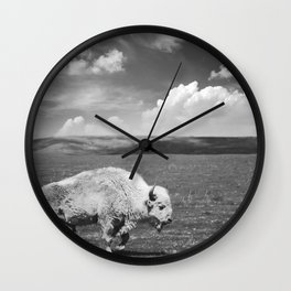 Great White Buffalo Wall Clock