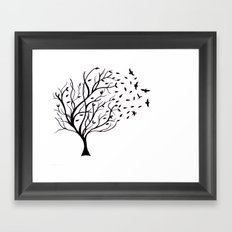 Tree Birds Framed Art Print