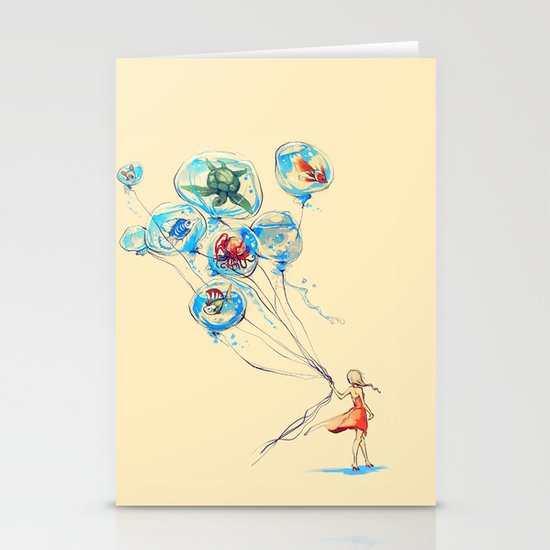 Water Balloons Stationery Cards