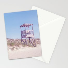 Lifeguard Chair on Blue Stationery Cards