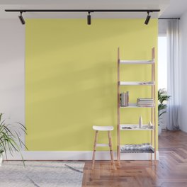 Solid Pale Corn Yellow Color Wall Mural