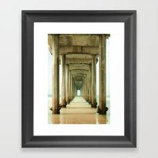 Scripps Pier Long Exposure Framed Art Print