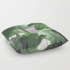 Tropical Palm Print Shadows Floor Pillow