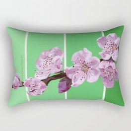 Cherry Blossoms on Greens Rectangular Pillow