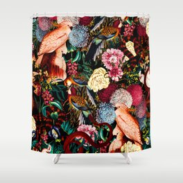 Floral and Animals pattern II Shower Curtain