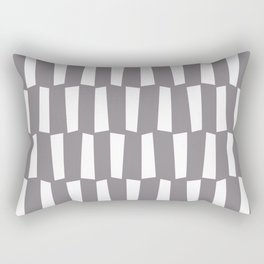 Gray and white abstract shapes pattern Rectangular Pillow