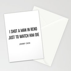 I shot a man in reno Stationery Cards