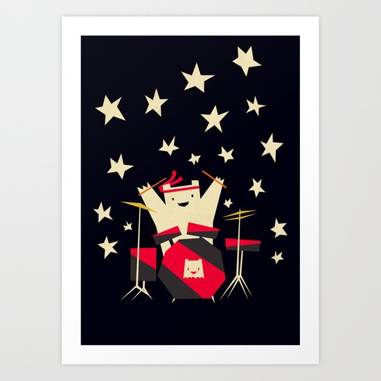 hit the drums!  Art Print