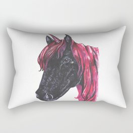 Dark unicorn Rectangular Pillow
