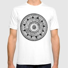 My First Attempt White MEDIUM Mens Fitted Tee