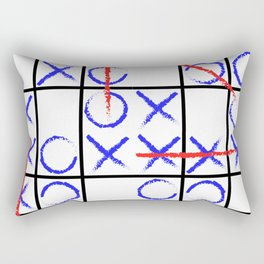Tic Tac Toe Group Rectangular Pillow