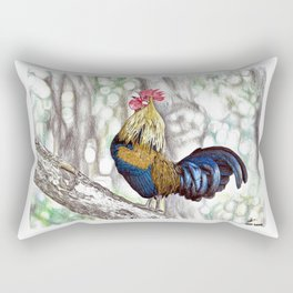Red Junglefowl (Original Available for sale) Rectangular Pillow