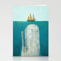 always Stationery Cards featuring The Whale  by Terry Fan
