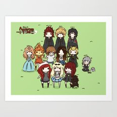 Finn the human admins Art Print