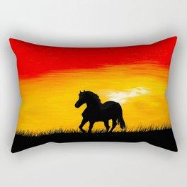 Horse At Sunset Rectangular Pillow
