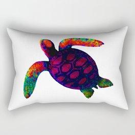 Turtle Magenta jGibney The MUSEUM Society6 Rectangular Pillow
