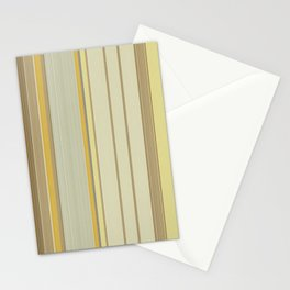 Yellow Beige Texture stripes Stationery Cards