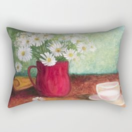 Chamomile and white cup Rectangular Pillow