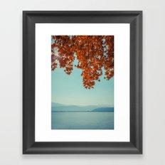 Autumn lights and summer serenity Framed Art Print