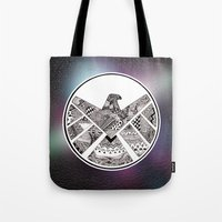 agents of shield Tote Bags featuring SHIELD by Ruth Ms