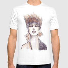 Punk fashion illustration  MEDIUM White Mens Fitted Tee