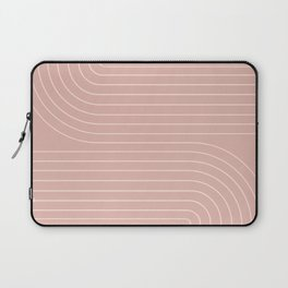 Minimal Line Curvature - Vintage Pink Laptop Sleeve