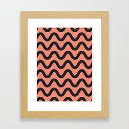 Coral Ripple Framed Art Print