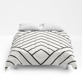 Diamond Series Pyramid Charcoal on White Comforters