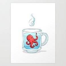 Octopus Tea Art Print