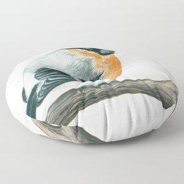 Bullfinch bird Floor Pillow