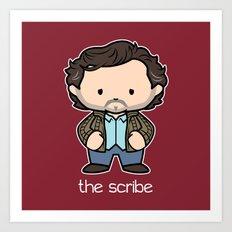 The Scribe Art Print