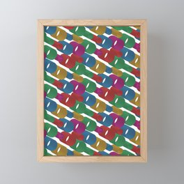 3D X Pipes Framed Mini Art Print