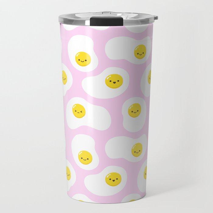 Cute Fried Eggs Pattern Travel Mug