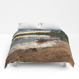 Nicks Lake Sunset Comforters