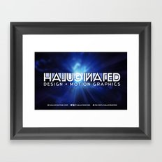 Halucinated Design + Motion Graphics Framed Art Print